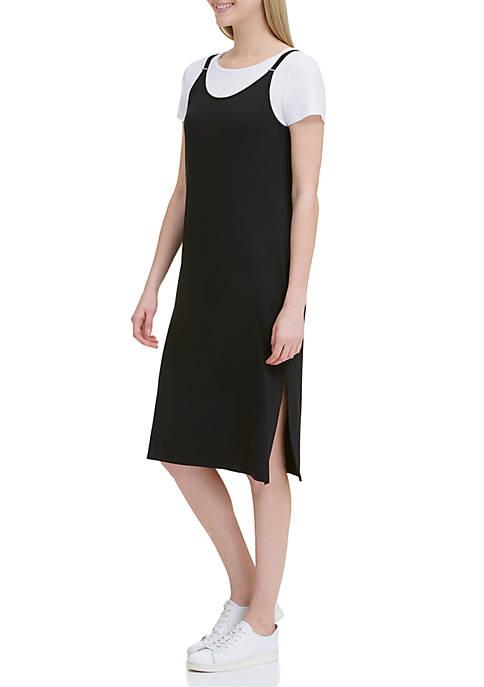Calvin Klein Cami Midi Dress with White T