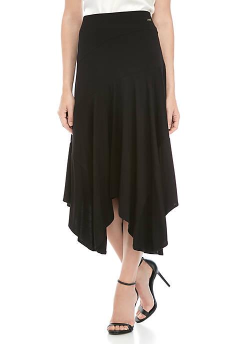 Calvin Klein Handkerchief Hem Knit Skirt