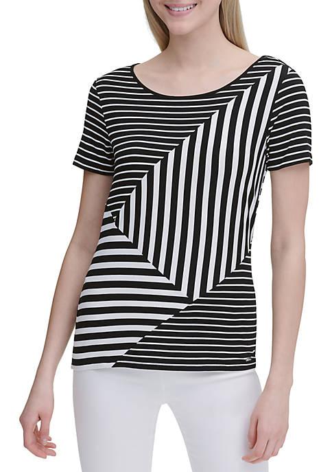 Calvin Klein Mixed Stripe Short Sleeve Tee