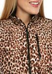 Womens Leopard Quilt Vest