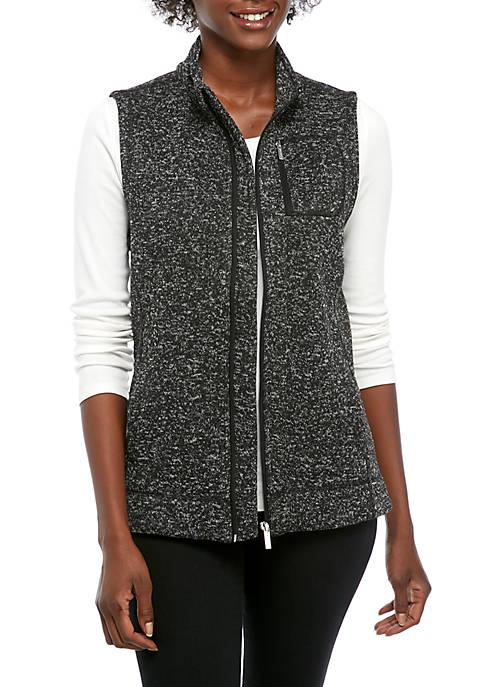 Calvin Klein Womens Marl Fleece Vest