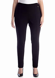 Plus Size Seamed Pullon Pant