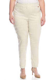 Plus Size Gingham Lux Pants