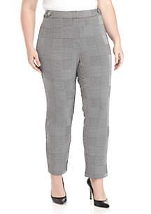 Plus Size Glen Plaid Pants