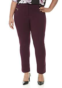 Plus Size Crepe Scuba Pants