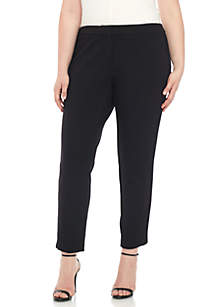 Plus Size Slim Pant with Stripe