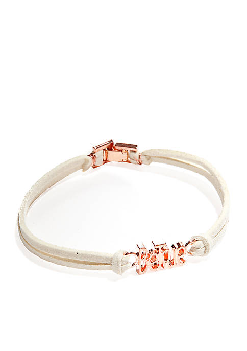 06 BE TRUE BRACELET:One Size Fits All:OFF WHITE/