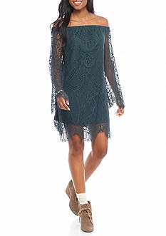 Fourteenth Place Off The Shoulder Lace Dress