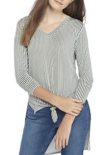 Extreme High-Low Tie Front Top