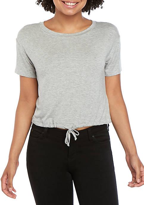 Short Sleeve Banded Bottom Top
