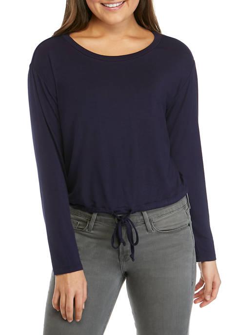 Juniors Banded Bottom T-Shirt