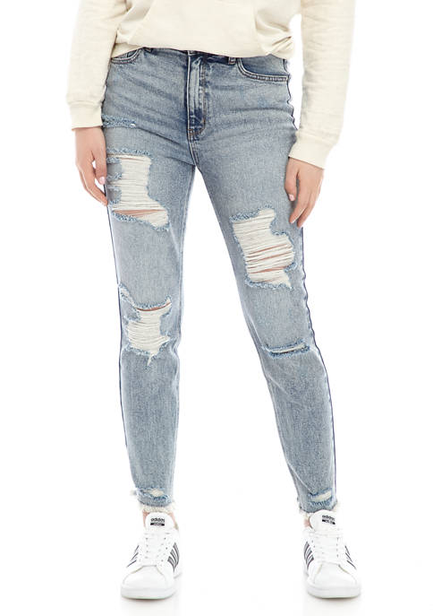 Fire Juniors Distressed Mom Jeans