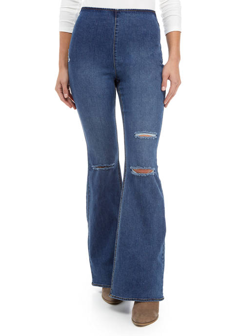Tinseltown Juniors Pull On Flare Jeans