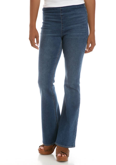 Tinseltown Pull-On Clean Hem Flare Jeans