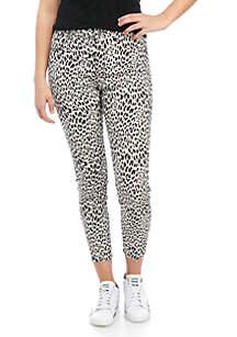 Tinseltown Leopard Skinny Jeans