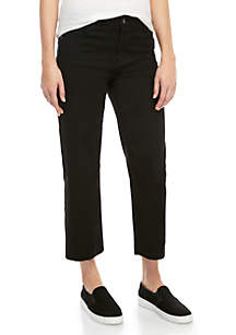 Tinseltown Cropped Wide Leg Denim Pants