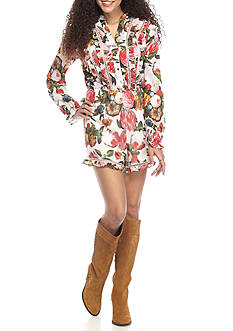 Fourteenth Place Long Sleeve Floral Romper