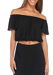 Solid Off The Shoulder Top