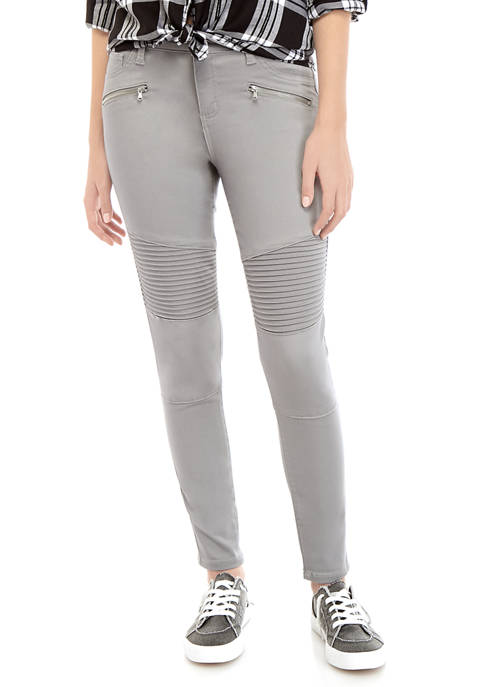 Juniors Skinny Moto Pants