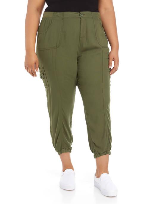 Plus Size Soft Utility Jogger Pants