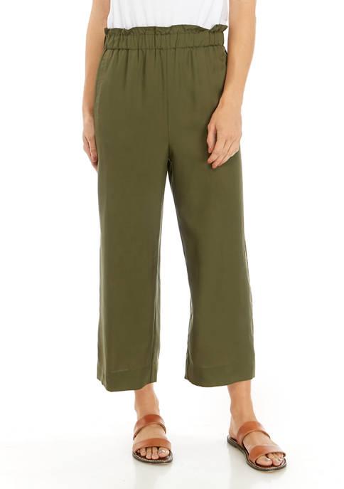 Womens Paper Bag Waist Pants
