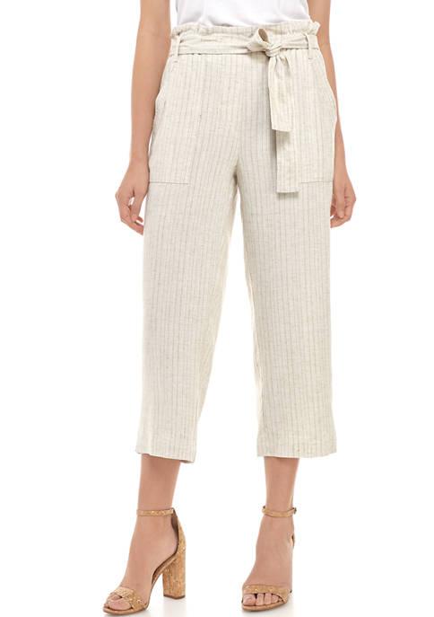 Womens Yarn Dye Linen Pants