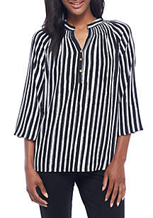 Waverly Stripe Peasant Top