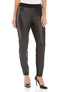 Sharagano Pleather Front Pants