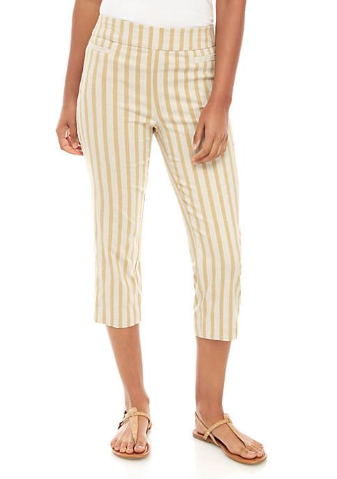 Stripe Linen Capris
