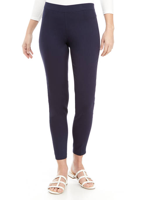 Womens Solid Millennium Pull On Pants