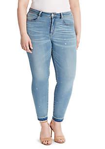 Plus Size Boho Skinny Ankle Jean