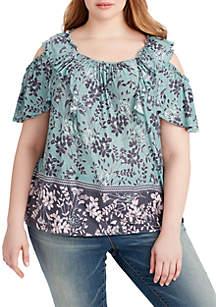 Carla Cold Shoulder Jersey Top