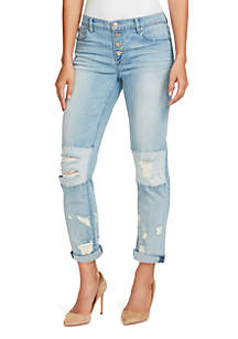 Gratia Bestie Knee Patch Jeans