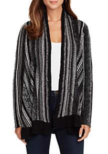 Arlise Open Front Stripe Sweater