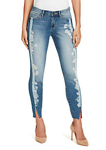 Wonderland Embellished Skinny Ankle Jean