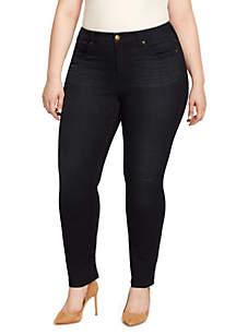 Plus Size Wonderland Slim Straight Jeans