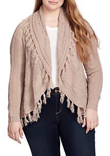 Plus Size Valora Open Front Cardigan