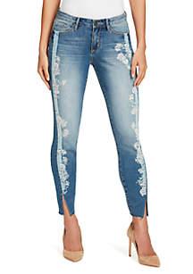 Petite Wonderland Embellished Skinny Ankle Jeans