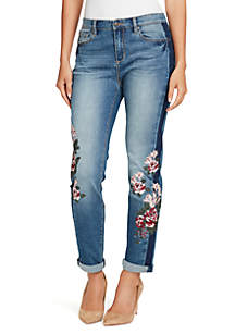 Petite Gratia Bestie Decorated Jeans