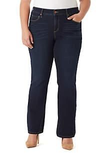 Plus Size Wonderland Micro Bootcut Jeans