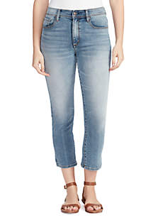 Vintage America Blues High Rise Cropped Jeans