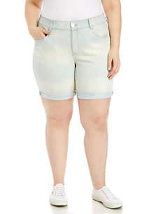 Vintage America Blues Plus Size Fab Bermuda Jean Shorts