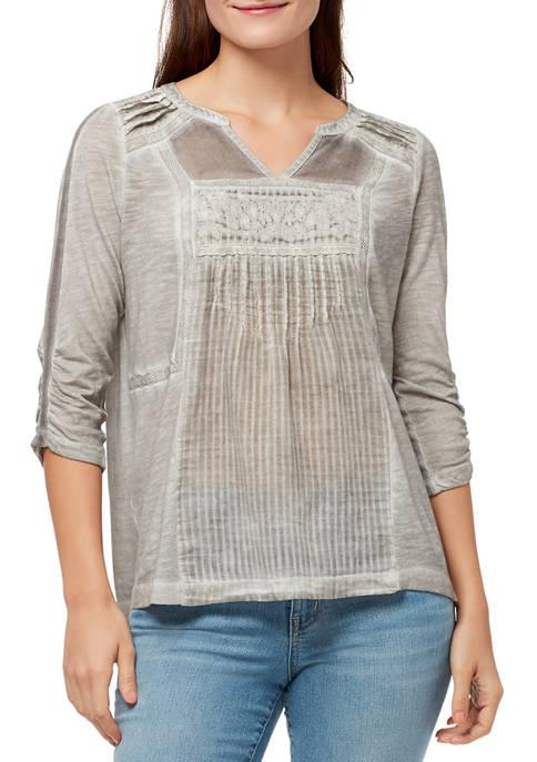 Womens Jordie 3/4 Sleeve Notch Neck Shirt