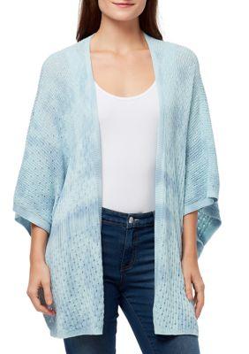 Vintage America Blues Womens Mar Perry Tie Dye Kimono