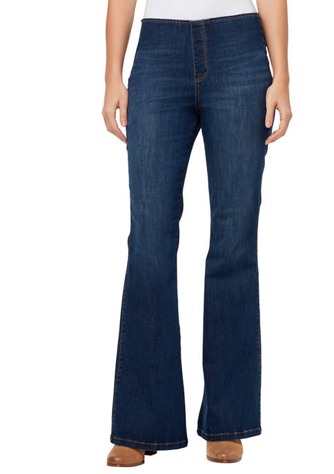Womens Fab Pull On Flared Jeans
