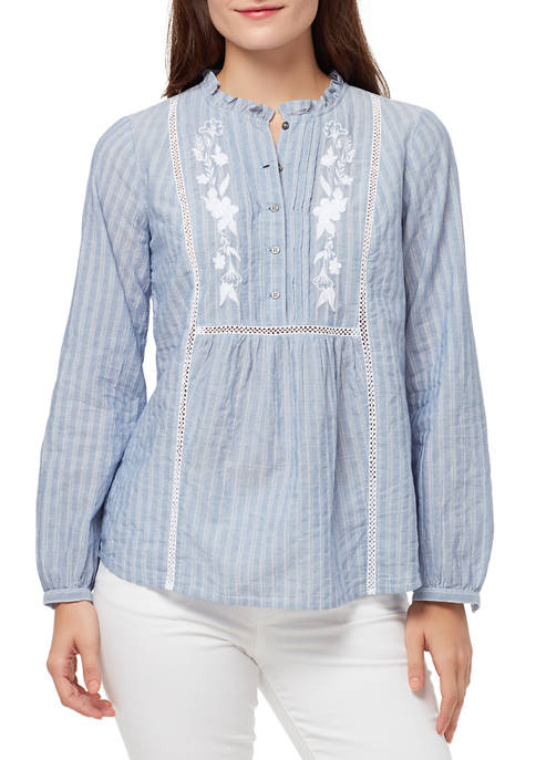 Womens Ella Embroidered Blouse