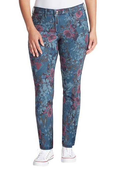 Womens Vintage Reversible Skinny Ankle Jeans