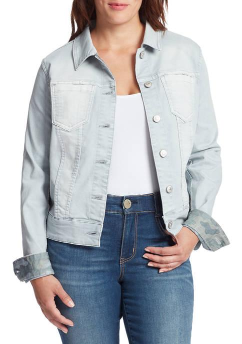 Womens Camo Reversible Denim Jacket