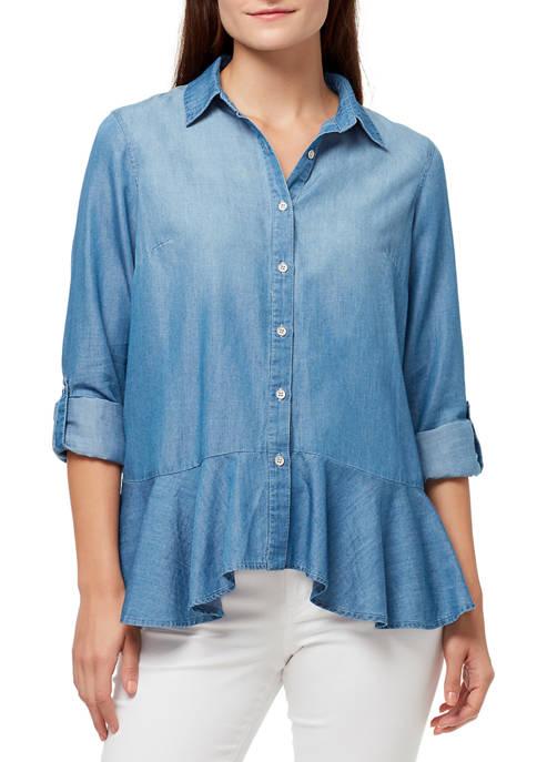 Womens Priscilla Peplum Shirt