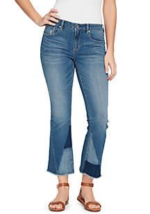 Vintage America Blues Wonderland Crop Kick Flare Jeans